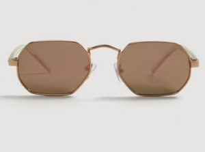 Mango Women Mirrored Oval Sunglasses