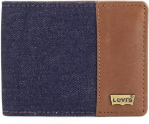 Levi's Men Blue Genuine Leather, Denim Wallet (4 Card Slots)