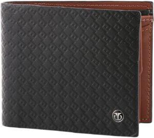 Titan Men Black Genuine Leather Wallet (4 Card Slots)