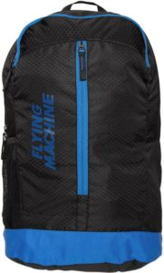 Flying Machine Elegant Youth 18 L Backpack (Black, Blue)