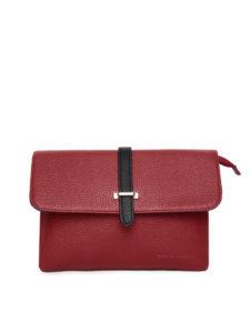 David Jones Red Solid Sling Bag
