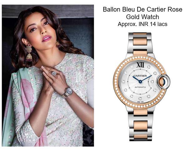Kajal Aggarwal Ballon Bleu De Cartier Rose Gold Watch