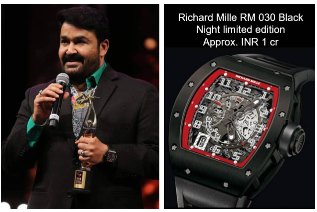 Mohanlal's Richard Mille RM 030 Black Night limited edition watch