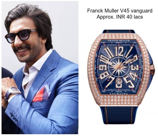 Ranveer's Franck muller vanguard v45 watch