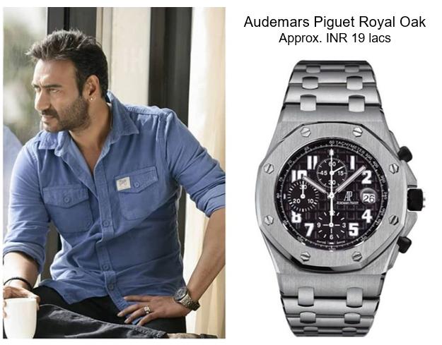 Ajay Devgan's Audemars Piguet Royal OAK Off-shore Steel Black Dial Watch