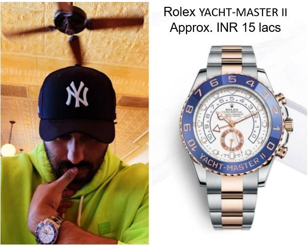 Arjun Kapoor's Yacht Master Watch